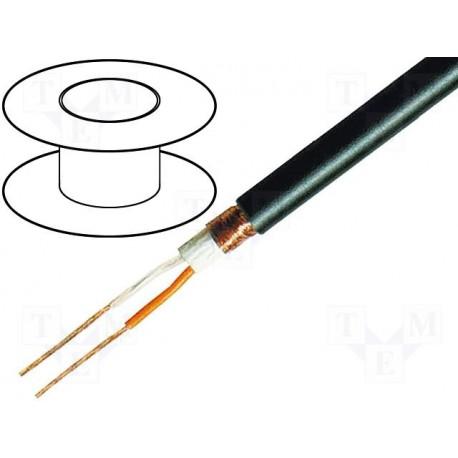 Câble blindé souple 2x0,35mm²  Ø extérieur 6,2mm noir