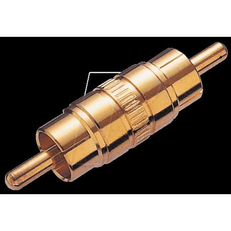Adaptateur RCA mâle / mâle doré