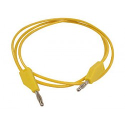 Cordon labo. à reprise D4mm jaune 1 mètre