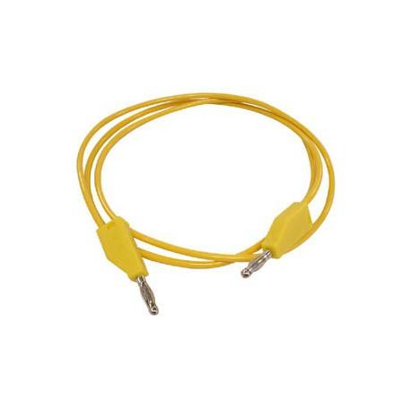 Cordon labo. à reprise D4mm jaune 1 mêtre