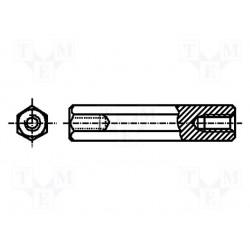 Entretoise filetée métal fem. / fem. 3x25mm