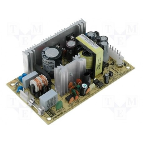 Alimentation Mean-Well 65W 90-264Vac / +5Vdc / +24Vdc open frame
