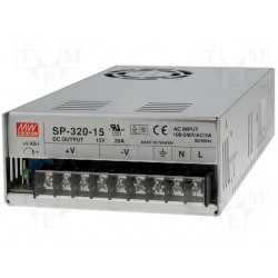 Alimentation Mean-Well série SP 320W - 88/264Vac - 15Vdc - 20Amp.