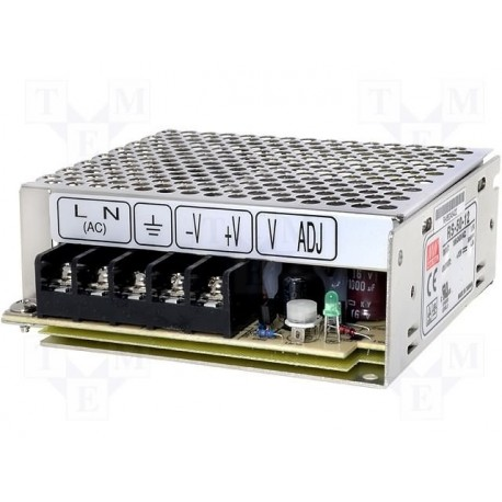 Alimentation Mean-Well série RS 50W - 88/264Vac - 12Vdc - 4,2Amp.