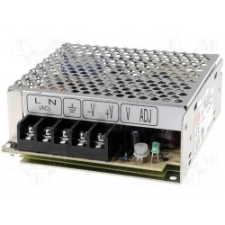 Alimentation Mean-Well série RS 50W - 88/264Vac - 5Vdc - 10Amp.