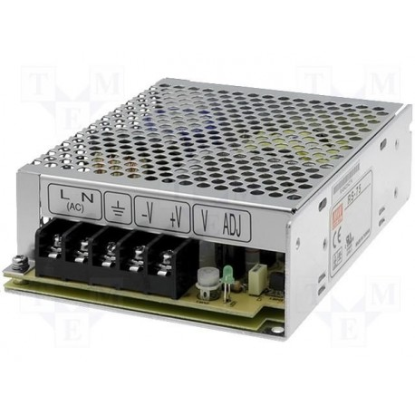 Alimentation Mean-Well RS 5V 75W 12Amp.