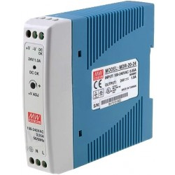Alimentation Mean-Well pour rail-din 24W - 85/264Vac - 24Vdc - 1Amp.