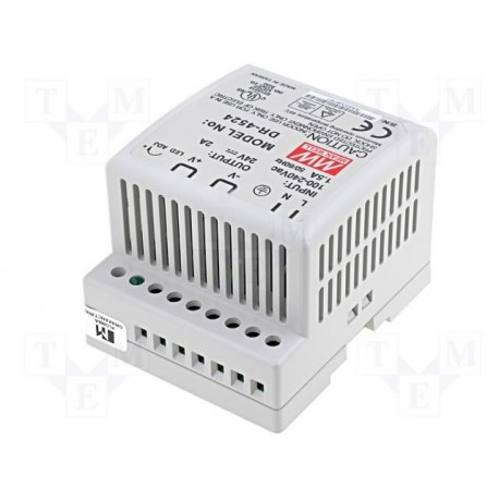 Alimentation rail-din Mean-Well 24V 2Amp. 48W