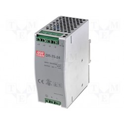 Alimentation Mean-Well pour rail-din 75W -  24Vdc - 3,2Amp.