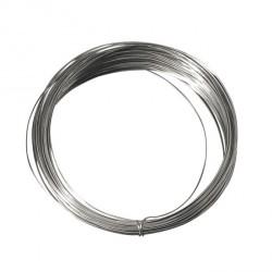 Bobine de 5 mètres de fil de cuivre argenté Ø 1mm