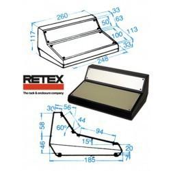 Coffret pupitre Retex 262x160x117mm