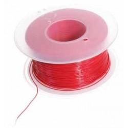 Bobine 50m fil à wrapper AWG30 0,05mm² rouge