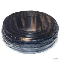 Câble de cordon silicone 0,4mm² 6Amp. noir