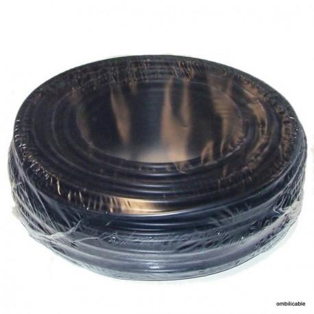 cable de cordon silicone 0,75mm² 12Amp. noir