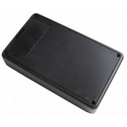 Coffret ABS noir 125x74x27mm + trappe