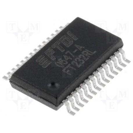 Circuit intégré SSOP28 3,3V/5V FT232RL