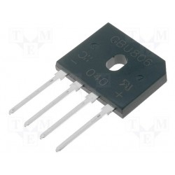 Pont de diodes en ligne 8Amp. 420V