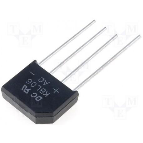 Pont de diodes en ligne 6Amp. 420V