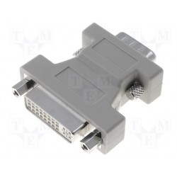 Adaptateur DVI-I (24+5) femelle / VGA HD15 mâle