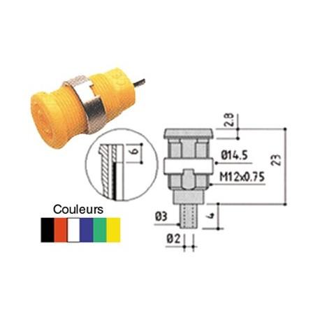1,2m jaune de sécurité-messleitung-fiches bananes 4mm avec tableau Douille