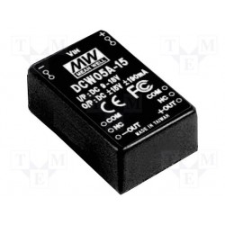 Convertisseur DC/DC Mean-Well 5,7W 36/72V - +/-15V 190mA