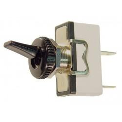 Interrupteur à levier unipolaire on / off 15amp. 250Vac Ø perçage 12mm sorties sur cosses 6,3mm