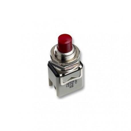 Poussoir de tableau N/F contact au repos rouge Ø de perçage 12mm à cosses