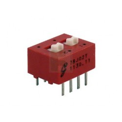 Inverseur dip-switch 2 contacts dil8