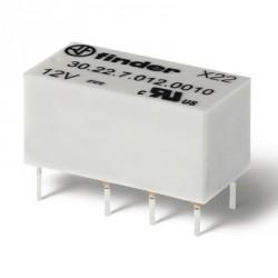Relais dil 2R/T type Finder 12Vdc DPDT 2A 960ohms