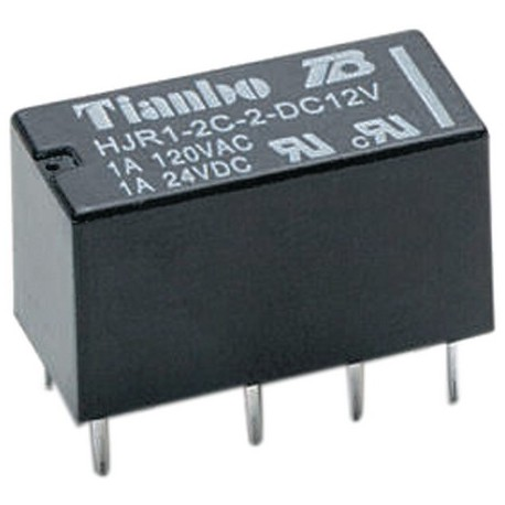 Relais dil 2R/T 24Vdc DPDT 2A 2880ohms