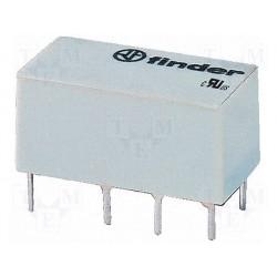 Relais dil 2R/T type Finder 6Vdc DPDT 2A 180ohms