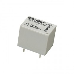 Relais Finder type 3611 1R/T 24Vdc 1600ohms 10Amp.