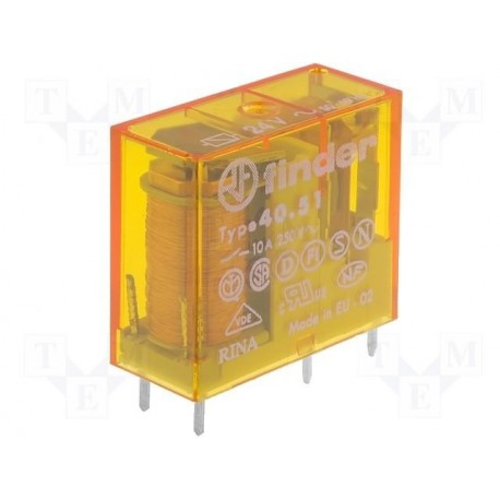 Relais type Finder 4051 1R/T 10Amp. 12Vac