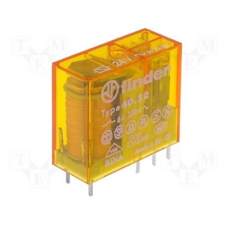 Relais type Finder 4052 2R/T 10Amp. 12Vac