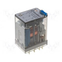 Relais type Finder 55.32 2R/T 230Vac 10Amp.