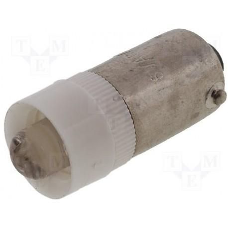 Ampoule Ba9s led 12Vac/dc blanche 9,6x23mm 2000mcd