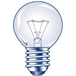 Ampoule claire sphérique E27 130V 25W