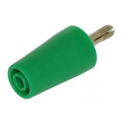 Adaptateur de sécurité 4mm vert