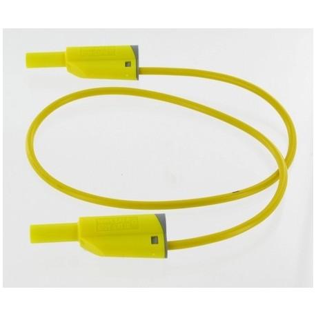 Cordon sécurité à reprise D4mm jaune 50cm