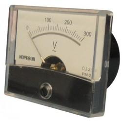 Galvanomètre voltmètre 0 à 300Volts 60x47mm