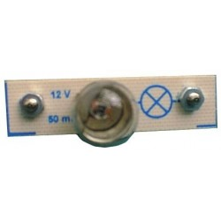 Module 2 plots support lampe E10 12V 50mA au pas de 38mm