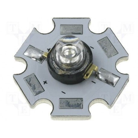 Led type Luxéon Star blanc froid 3,3V 1W 130° 155 lm.