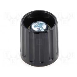 Bouton pour potentiomètre 16mm noir pour axe 6mm