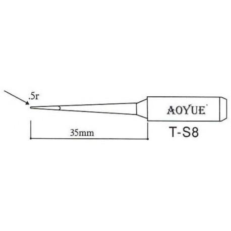 Panne de fer à souder T-S8 pointe 0,5mm