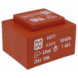 Transformateur moulé 230Vac / 2x9Vac 10VA