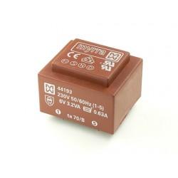 Transformateur moulé EI38 230Vac / 6Vac 3,2VA