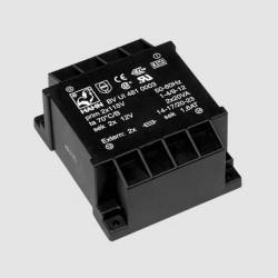 Transformateur moulé 2x115Vac / 2x12Vac 60VA hauteur 48mm