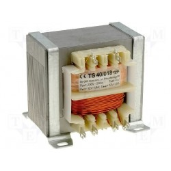 Transformateur 230V - 46VA 2x12V à étrier