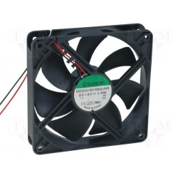 Ventilateur 12V 120x120x25mm 127,3m³/h 34dBA