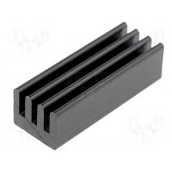Dissipateur anodisé pour boitier DIL 19,05x6,35x4,83mm